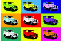 Land Rover Pop Art